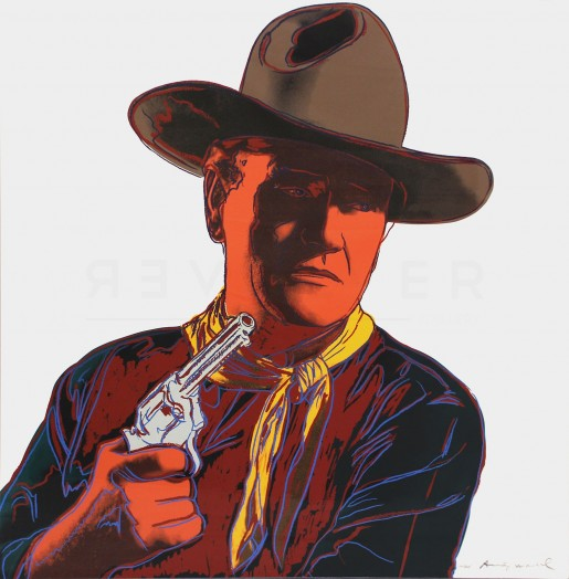 """Andy Warhol, John Wayne (FS II.377), from the Portfolio """"Cowboys and Indians"""", 1986"""