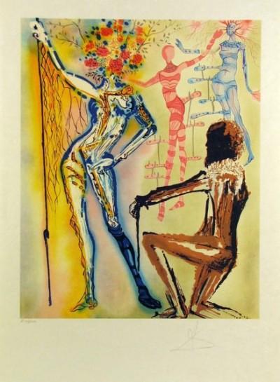 The Ballet of the Flowers (The Fashion Designer) von Salvador Dalí