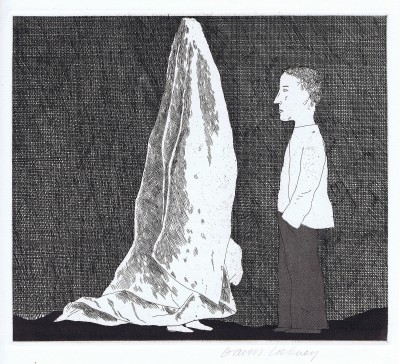 The Sexton Disguised as a Ghost (The Boy Who Left Home to Learn Fear) von David Hockney