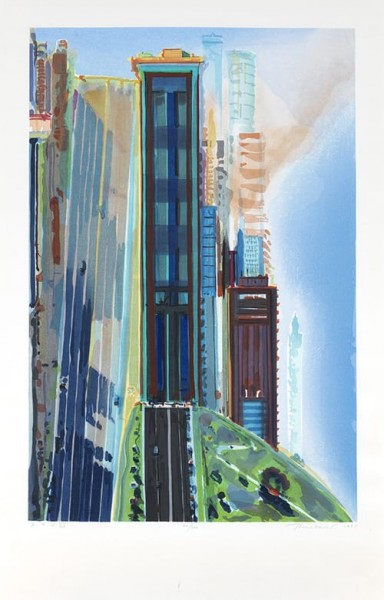 Wayne Thiebaud, Hill Street, 1987
