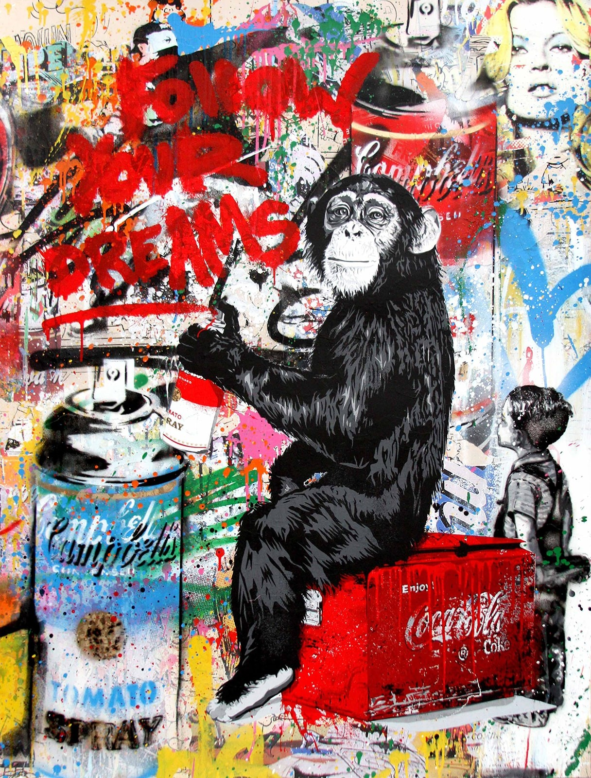 mr brainwash kaufen every day life follow your dreams campbell s soup. Black Bedroom Furniture Sets. Home Design Ideas