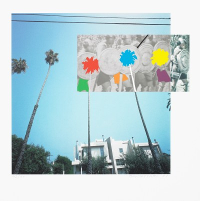 The Overlap Series: Palmtrees and Building (with Vikings)  von John Baldessari
