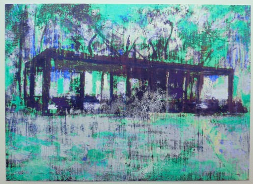 Enoc Perez, Glass House (Turquoise), 2015
