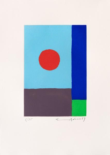 Etel Adnan, Power of sun, 2017