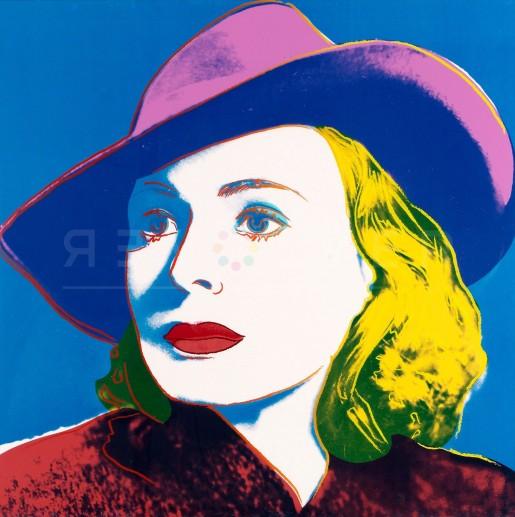 "Andy Warhol, With Hat (FS II.315), from the Portfolio ""Ingrid Bergman"", 1983"