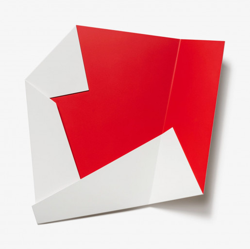 Sébastien de Ganay, White & Red Folded Flat 02, 2021