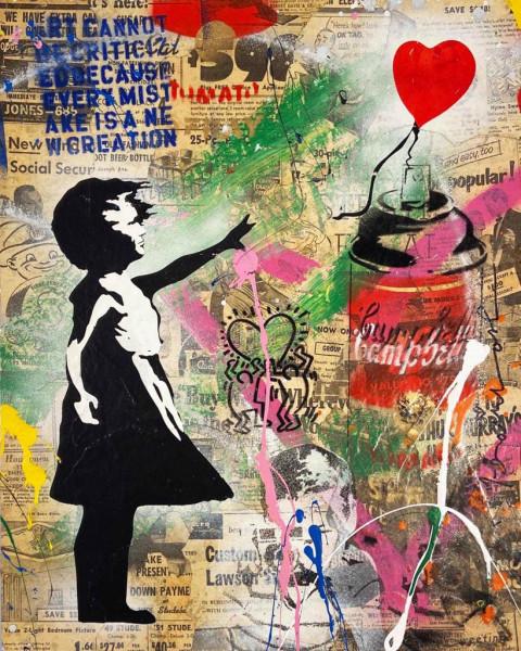 Mr. Brainwash, Balloon Girl, 2019