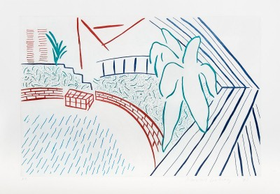 David Hockney, My Pool and Terrace, 1983