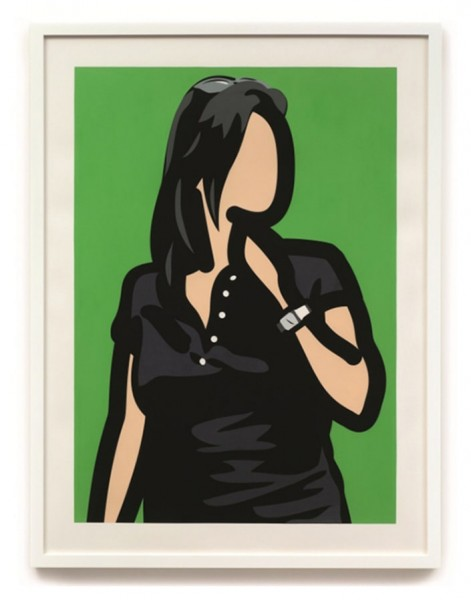 Julian Opie, Tourist with Watch, 2014