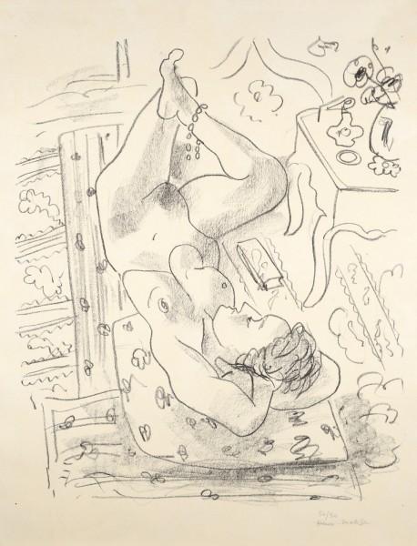 Henri Matisse, Nu renversé près d'une table Louis XV, 1929