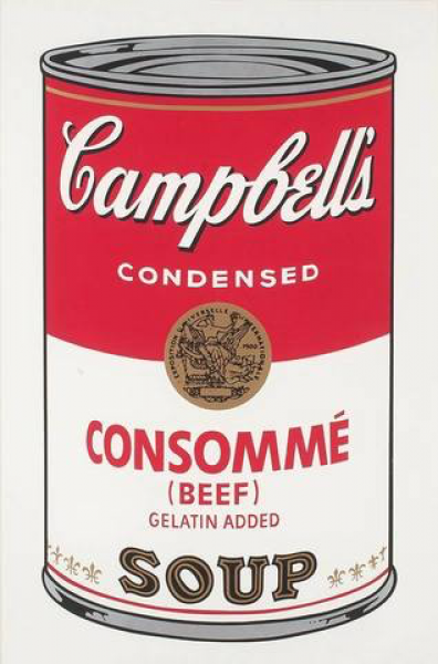 "Andy Warhol, Consommé (FS II.52) from the Portfolio ""Campbell's Soup"", 1968"