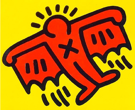 Keith Haring, X-Man from Icons, 1990