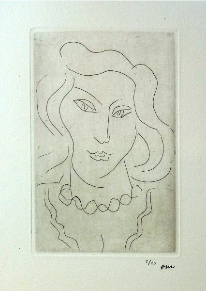 Henri Matisse, Face of a Young Woman with a Twisted Necklace, 1946