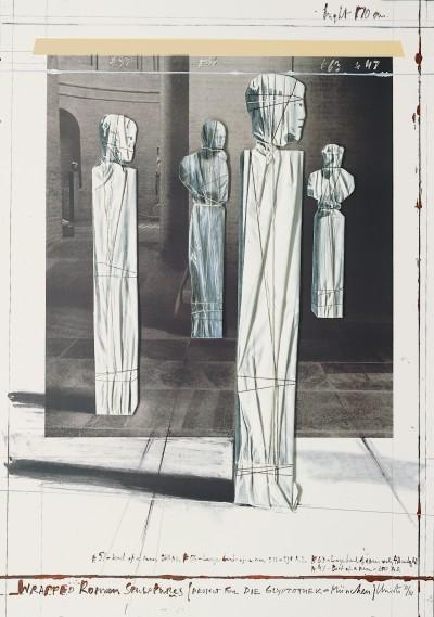 Christo - Wrapped Roman Sculptures