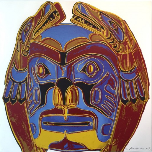 "Andy Warhol, Northwest Coast Mask (FS II.380), from the Portfolio ""Cowboys and Indians"", 1986"