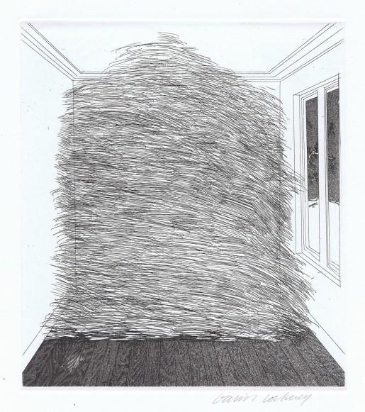 David Hockney, A Room Full of Straw (Rumpelstilzchen), 1969