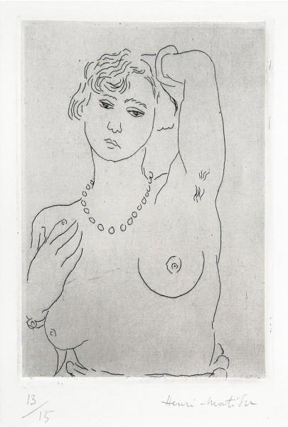 Henri Matisse, Buste de femme avec collier et bracelet, 1926
