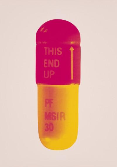The Cure - Powder Pink/Lollypop Red/Golden Yellow von Damien Hirst