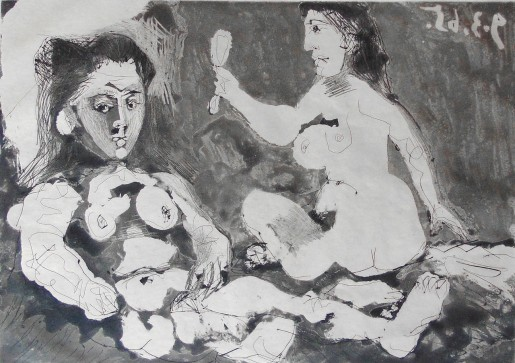Pablo Picasso, Nude Women with Mirror, 1965