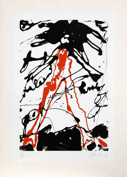 Claes Oldenburg, Striding Figure from Conspiracy: The Artist as Witness Portfolio, 1971