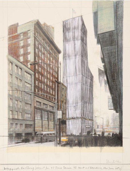 Christo & Jeanne-Claude, Wrapped Building (Project for # 1 Times Square, 42 Street and Broadway, New York City), 2003