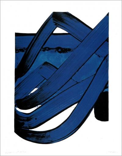 Sérigraphie No. 18 von Pierre Soulages