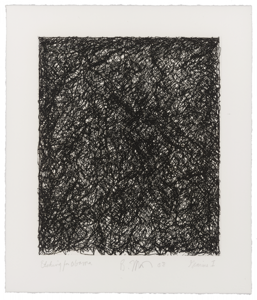 Brice Marden, Etching for Obama, 2008