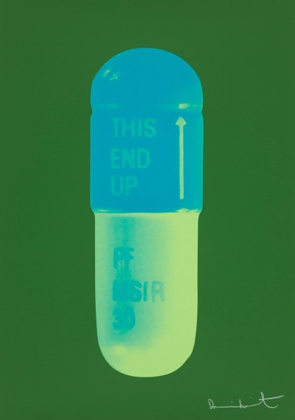 Damien Hirst, The Cure - Forest Green/Turquoise/Acid Green, 2014