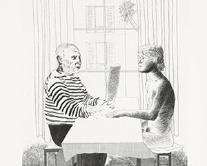 Artist and Model von David Hockney