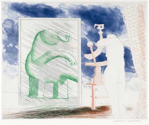 David Hockney, A Picture of Ourselves, 1977