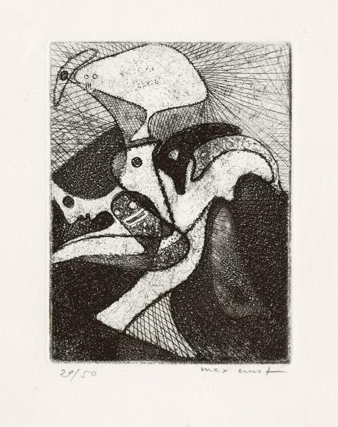 Max Ernst, La loterie du jardin zoologique, 1951
