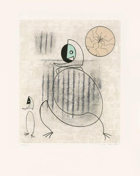 """Max Ernst, Mon fiancé est une idée saugrenue, from """"Oiseaux en péril"""", 1975"""