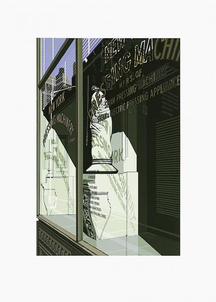 "Richard Estes, ""Pressing Machinery"" from the Portfolio ""Urban Landscape II"", 1979"
