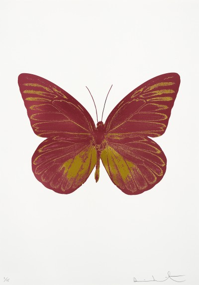 Damien Hirst, The Souls I - Loganberry Pink/Oriental Gold , 2010