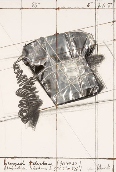 Christo & Jeanne-Claude, Wrapped Telephone (Project for Telephone), 1988