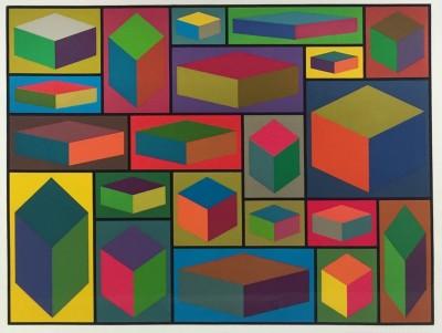 Sol LeWitt - Distorted Cubes #2
