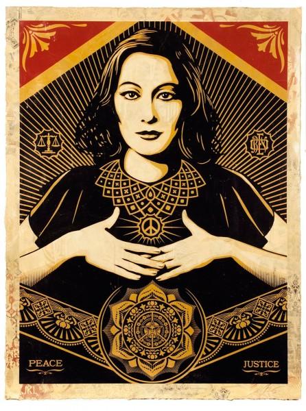 Shepard Fairey, Peace & Justice Woman, 2013