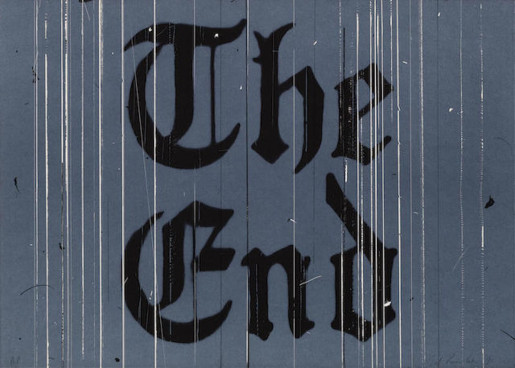 Ed Ruscha, The End, 1991