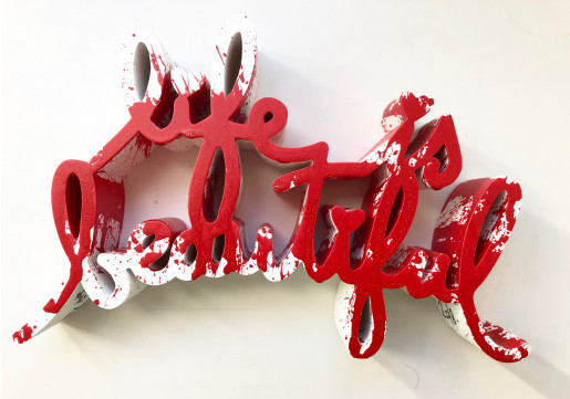 Mr. Brainwash, Life is Beautiful - Red Splatter, 2018