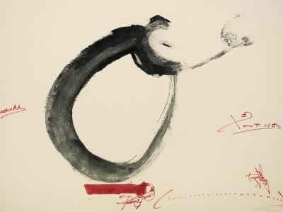 Lletra O von Antoni Tàpies