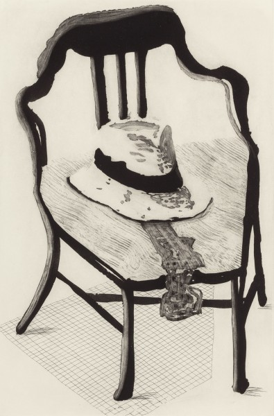 David Hockney, Hat On Chair, from The Geldzahler Portfolio, 1998