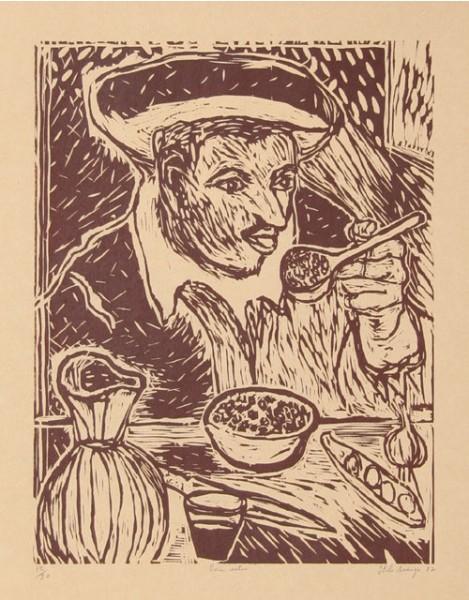 Italo Scanga, The Bean Eater, 1982