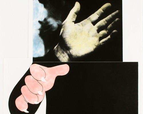 Two Hands (With Distant Figure) von John Baldessari