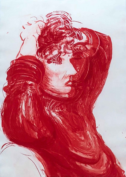 David Hockney, Red Celia from the Moving Focus series, 1984
