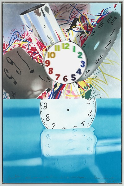 The Memory Continues but the Clock Disappears von James Rosenquist