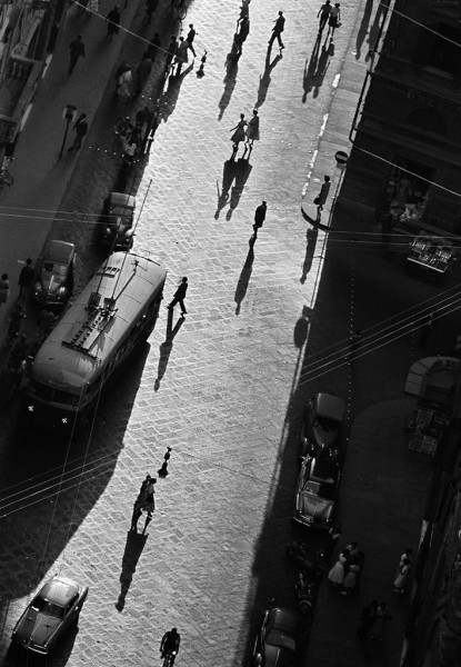 Thomas Hoepker, Shadows on a Street, Florence, Italy, 1958