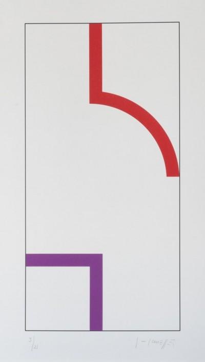 Sans Titre (Rouge/Violet) von Gottfried Honegger