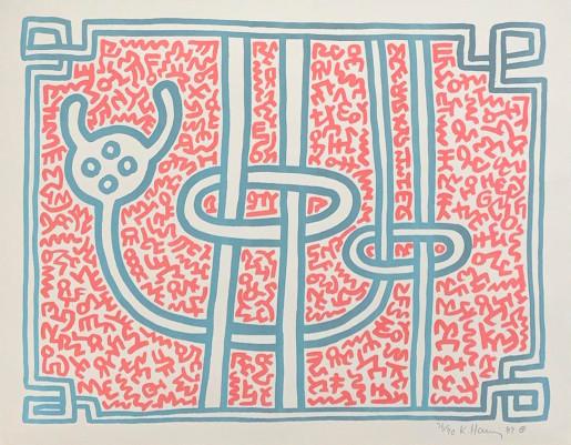 Keith Haring, Chocolate Buddha 3, 1989
