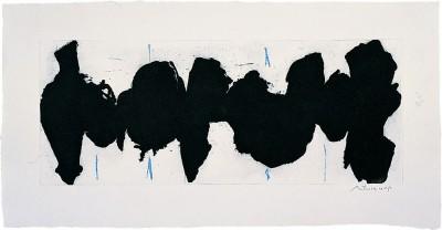 Running Elegy II, Blue State von Robert Motherwell