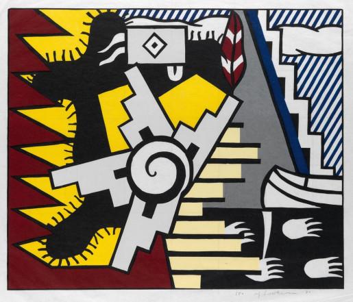 "Roy Lichtenstein, American Indian Theme II, from the Portfolio ""American Indian Theme"", 1980"